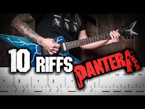 LEARN 10 PANTERA RIFFS TAB