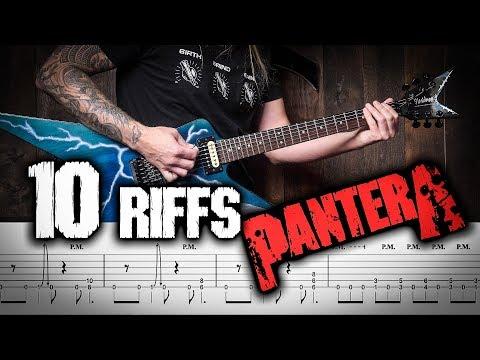 LEARN 10 PANTERA RIFFS TAB