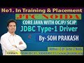 JDBC - ODBC Bridge Driver Program (Type 1 Driver ) Part-3 by Som Sir