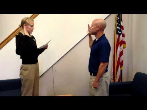 Ensign Bezeau Officer Commision