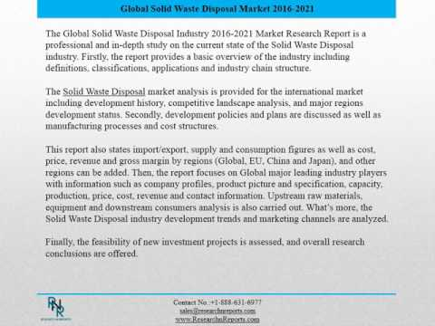 Global Solid Waste Disposal Market Research Report 2016