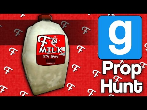 Gmod: Frans Milk! (Garrys Mod Prop Hunt - Comedy Gaming)