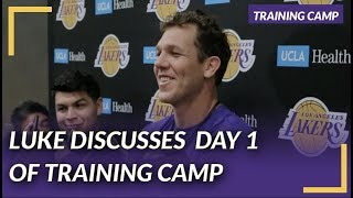 Lakers Nation Interview: Luke Talks Defense on the First Day of Training Camp