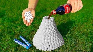 Experiment: Volcano of 1000 Mentos and Coca Cola