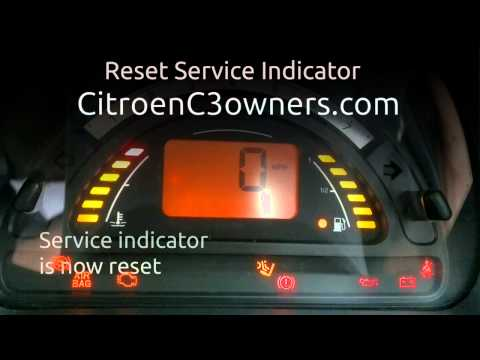 Reset Service Indicator on Citroen C3