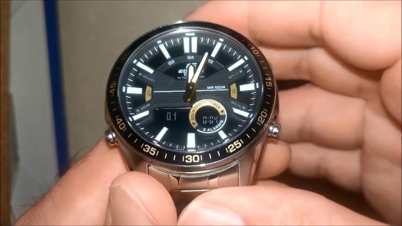 Casio Efv C100d 1bvdf Erkek Kol Saati Alarm Kronometre Geri Sayim Araci Youtube