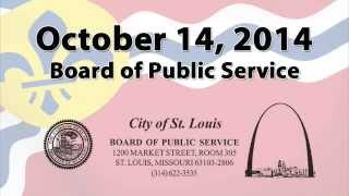 Board of Public Service October 14, 2014
