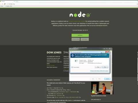 Installing NodeJS