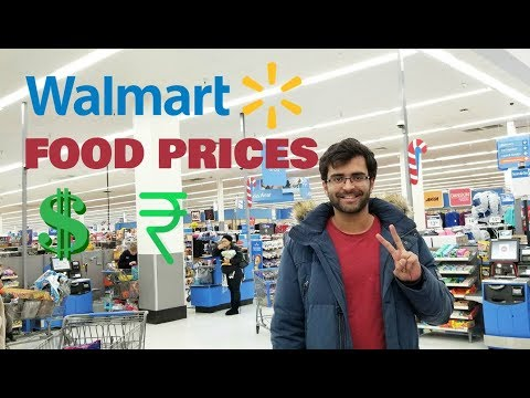 FOOD PRICES AT AMERICAN SUPERMARKET | WALMART