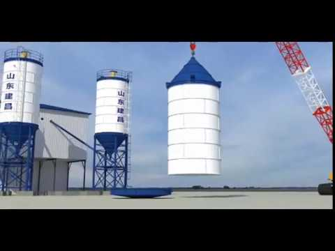 Haomei Concrete Batch Plant Installation Video Of Bolted Type