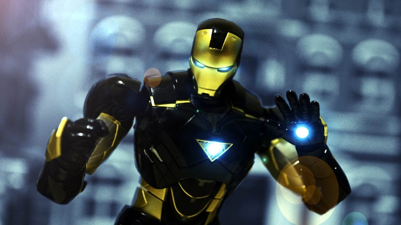 SHF Black Iron man stop motion review SHF 黑色鋼鐵人玩具介紹 - YouTube