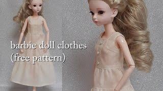 바비인형옷만들기 - 3단 주름원피스 (무료패턴 No.0…