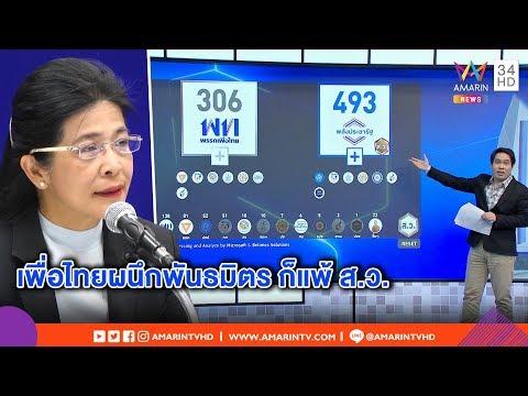 ทุบโต๊ะข่าว :เปิดสูตรตั้งรัฐบาล เพื่อไทยผนึกกำลังพันธมิตร ก็ยังพ่ายให้ลุงตู่ ? 25/03/62