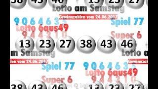 Lotto Ziehung am Samstag - Lottozahlen vom 24.06.2017