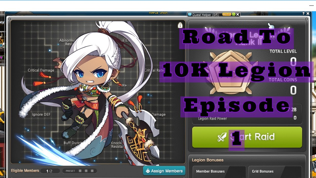 MapleStory Reboot: Road To 10k Legion: The First Of Very Many Videos | Aran | Golden Orb 2000+ Combo