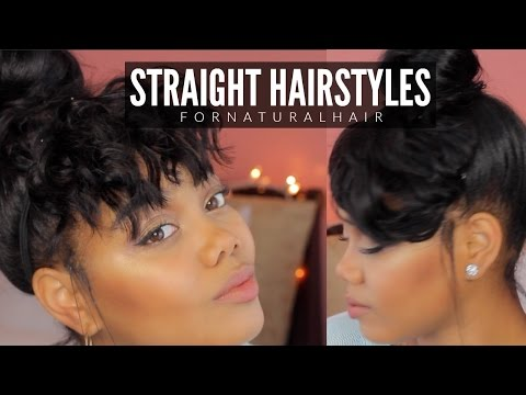 STRAIGHT HAIRSTYLES FOR NATURAL HAIR