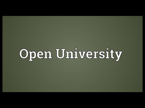 Open University Meaning