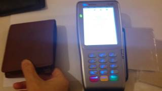 Real demo of contactless RFID card protector protection