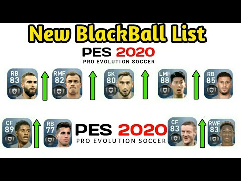 All GOLD to BLACK ball Upgraded Players PES 2020 || Pes 2020 BlackBalls ||  Pes 2020 BlackBall List |