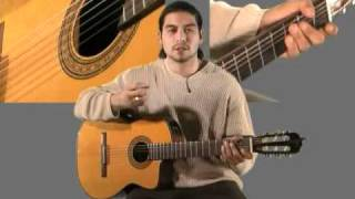 Learn Greensleeves  on Classical Guitar part 1