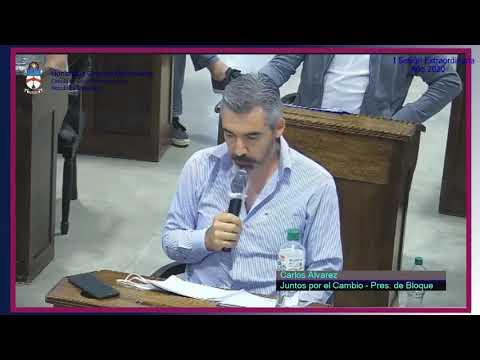 Concejal Carlos Álvarez (JxC) Debate sobre la utilización de pirotecnia en Cañuelas.