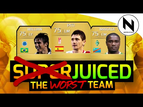 The WORST GOLD Team - SUPER JUICED!! - FIFA 14
