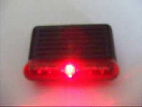 CAR ALARM SECURITY Red LED AERO STYLE SCANNER