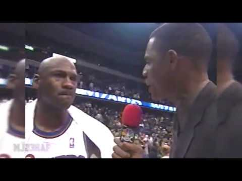 Michael Jordan Post-Game Interview after Defeating Pacers (2002.02.03)