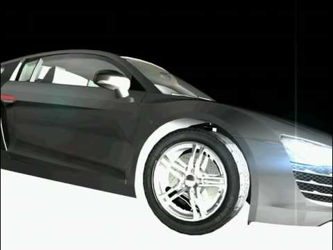 Audi R8 Cinema 4D Animation 3D