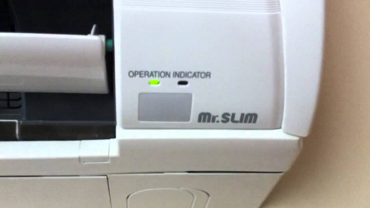 Mitsubishi Mr Slim Indoor Unit In Operation