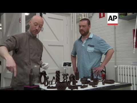 3D printed gourmet chocolate