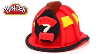 Play-Doh Firefighter Helmet Fireman Protection Easy