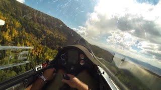 Glider Enjoying 100+ Mile Ridge Flight Over the Rocky Mountains