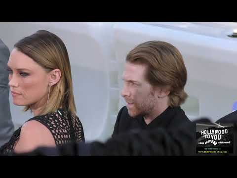 Seth Green and Clare Grant outside the IT Premiere at TCL Chinese Theatre in Hollywood