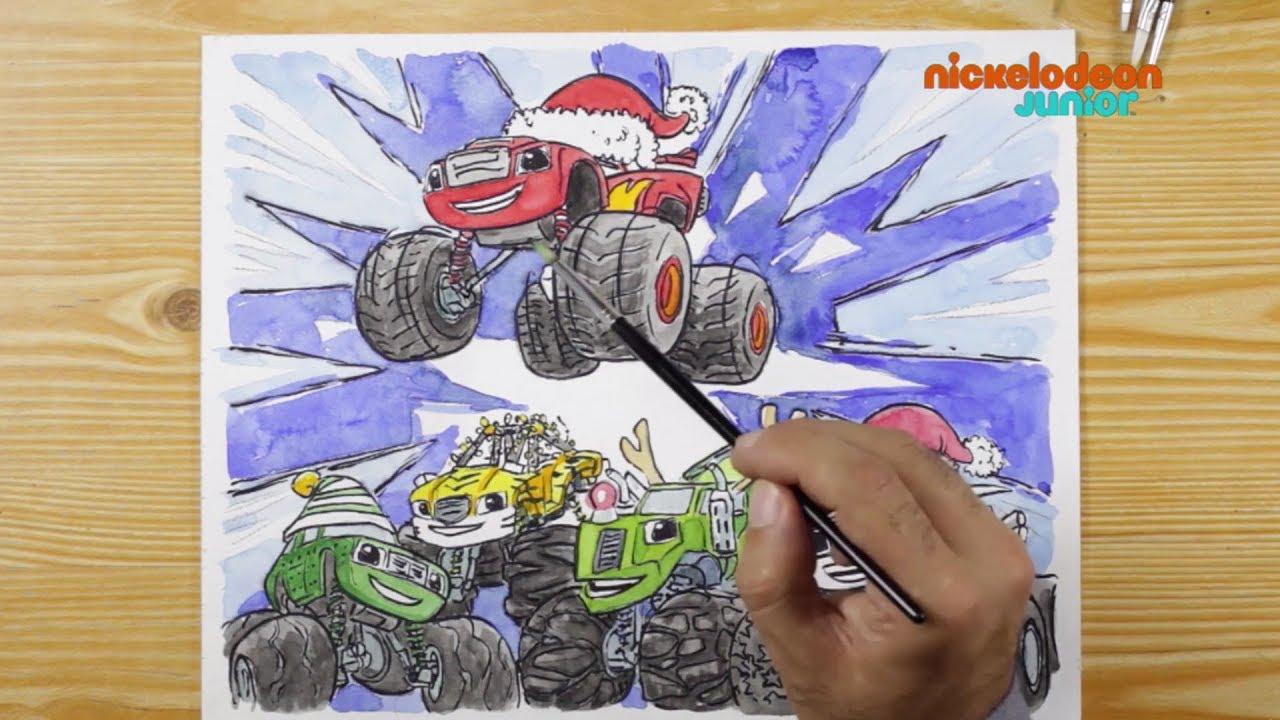 1 2 3 Coloriage Blaze Et Les Monster Machines C Est Noël