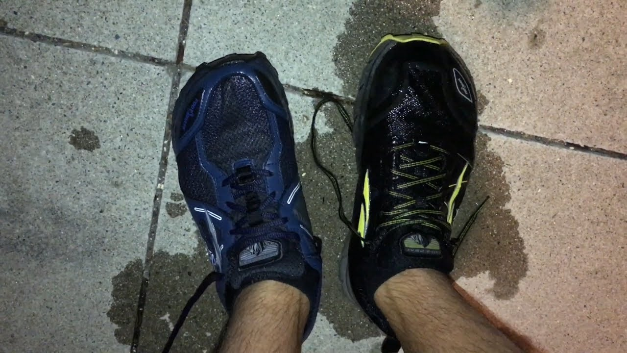 Drying time of wet trail running shoes