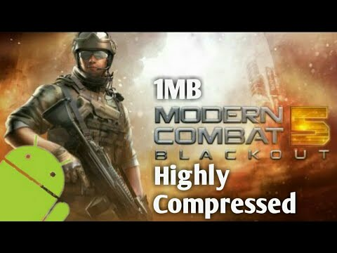 🔵How to download Modern Combat 5 Blackout(1mb) in android 100% real