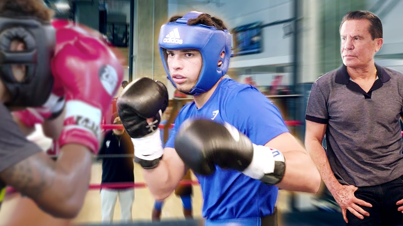 Training With Boxing Legend Julio Cesar Chavez | Ryan Garcia Vlogs