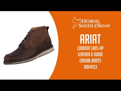 Ariat Mens Lookout Lace-Up Leather and Suede Casual Boot 10014153