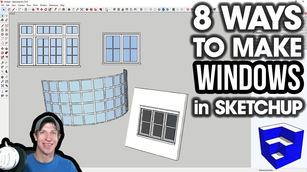 8 Ways to CREATE WINDOWS in SketchUp - The SketchUp Essentials