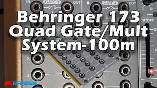 Behringer 173 Quad Gate Multiplier Eurorack System 100m clone