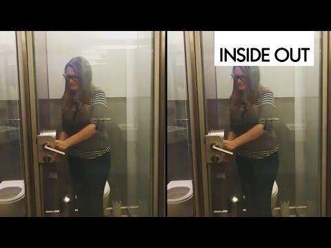 Cмотреть видео УМНЫЙ ТУАЛЕТ Можете попробовать построить такой прозрачный дачный туалет своими руками