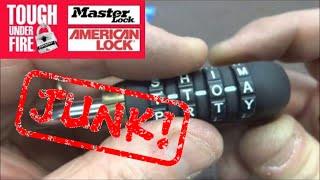 (184) WordLock Combination AVOID THIS LOCK!!!