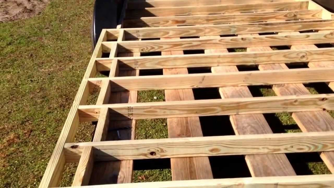 How To Build A Tiny House Episode 3 Subfloor Framing Cont Youtube