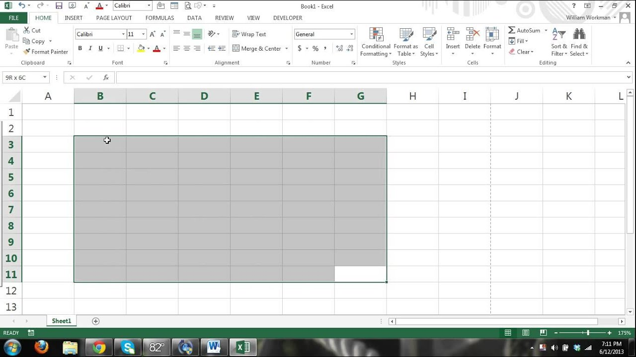 ms excel 2013 tutorial for beginners part 1 how to use excel formulas charts tables. Black Bedroom Furniture Sets. Home Design Ideas
