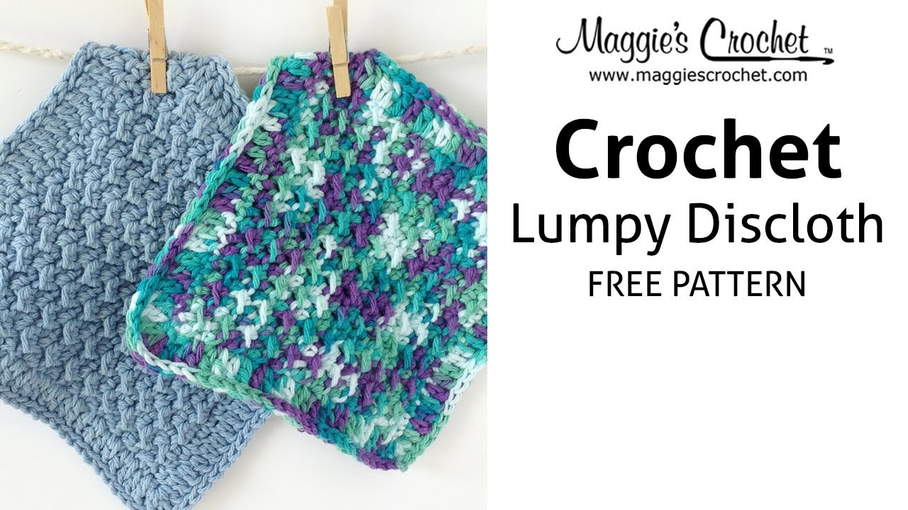 Lumpy Dishcloth Free Crochet Pattern - Right Handed - YouTube