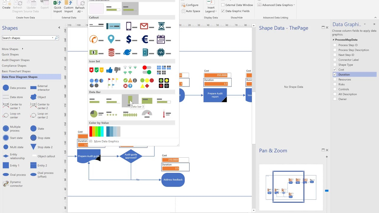 Using visio to create  flowchart from excel and update also rh youtube