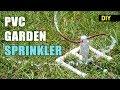 How to make a PVC Rotating Garden sprinkler | DIY Garden Accessory
