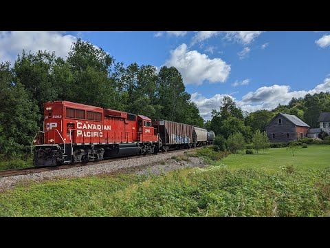 Canadian Pacific returns to Vermont. Chasing CP F19 through the NEK