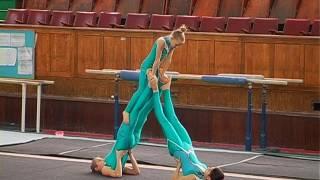 Первенство ДЮСШ по спортивной акробатике женские групповые выступления программа 1 спорт.  разряда